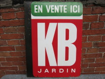 Emaille reclamebord KB jardin