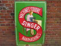 "Emaille Reclamebord ""Singer"""