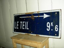 "Emaille Reclamebord ""Le Teil"""